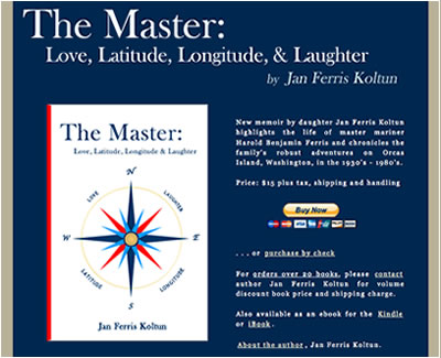 Homepage of Jan Ferris Koltun, author of The Master - Love, Latitude, Longitude and Laughter