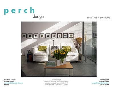 Homepage of Perch Design