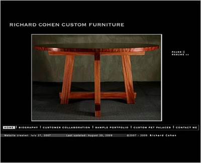 Homepage of Richard Cohen Custom Furniture
