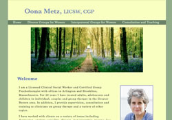 Oona Metz is a Certified Group Psychotherapist and Licensed Clinical Social Worker treating adults, adolescents and children in individual, couples, and group therapy in the Greater Boston area